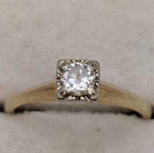 Jewelry - 14k Gold Diamond Ring